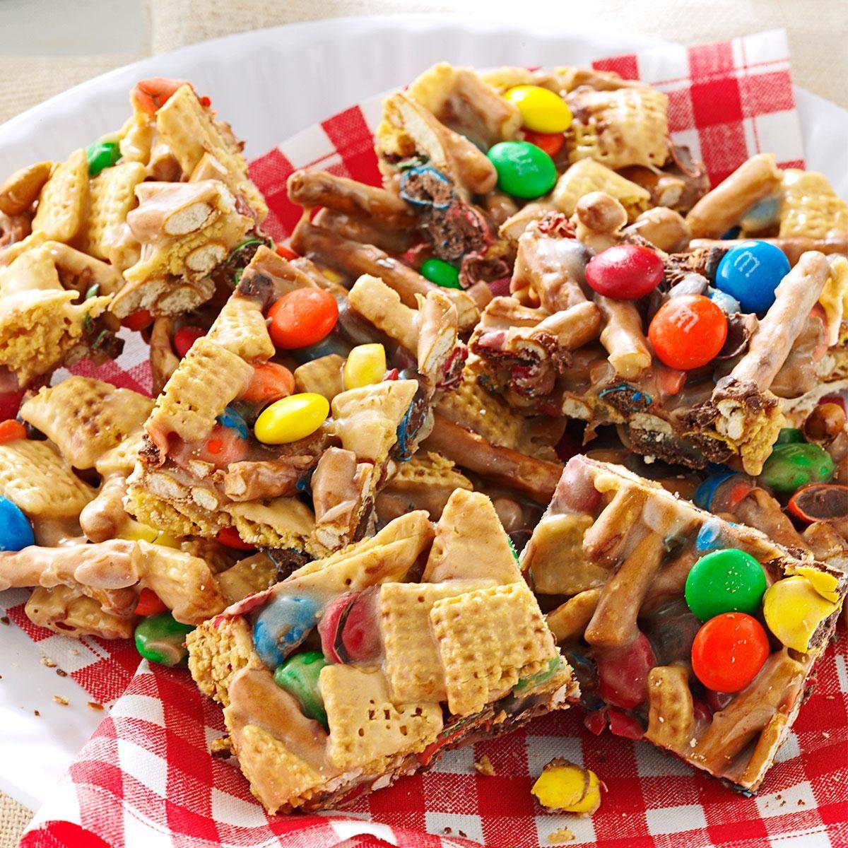 Snack Mix Squares Recipe