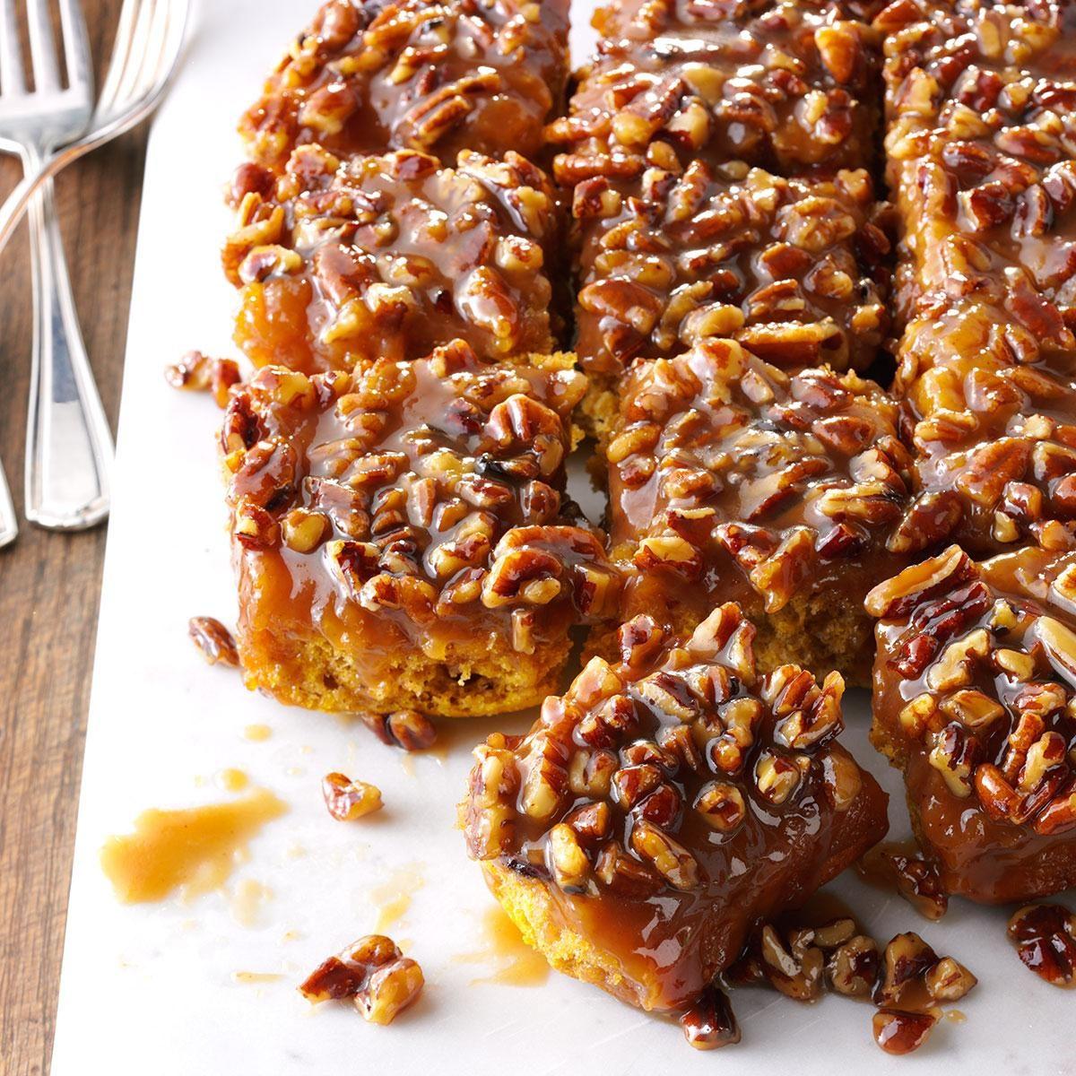 Caramel-Pecan Pumpkin Pull-Aparts Recipe