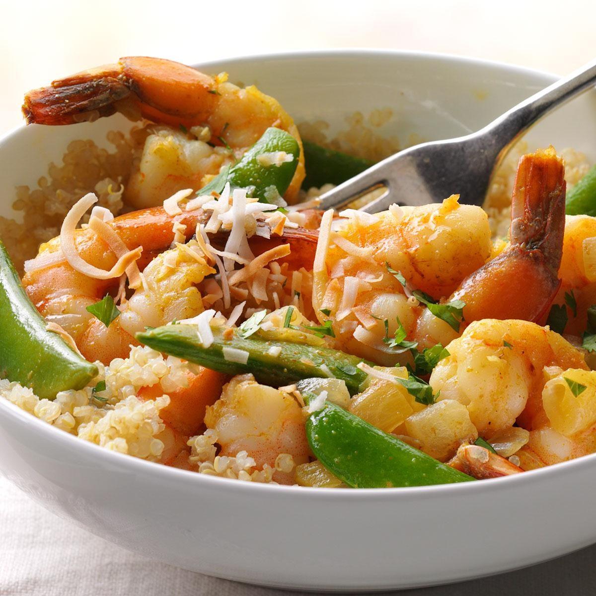 Spicy Coconut Shrimp with Quinoa Recipe | Taste of Home