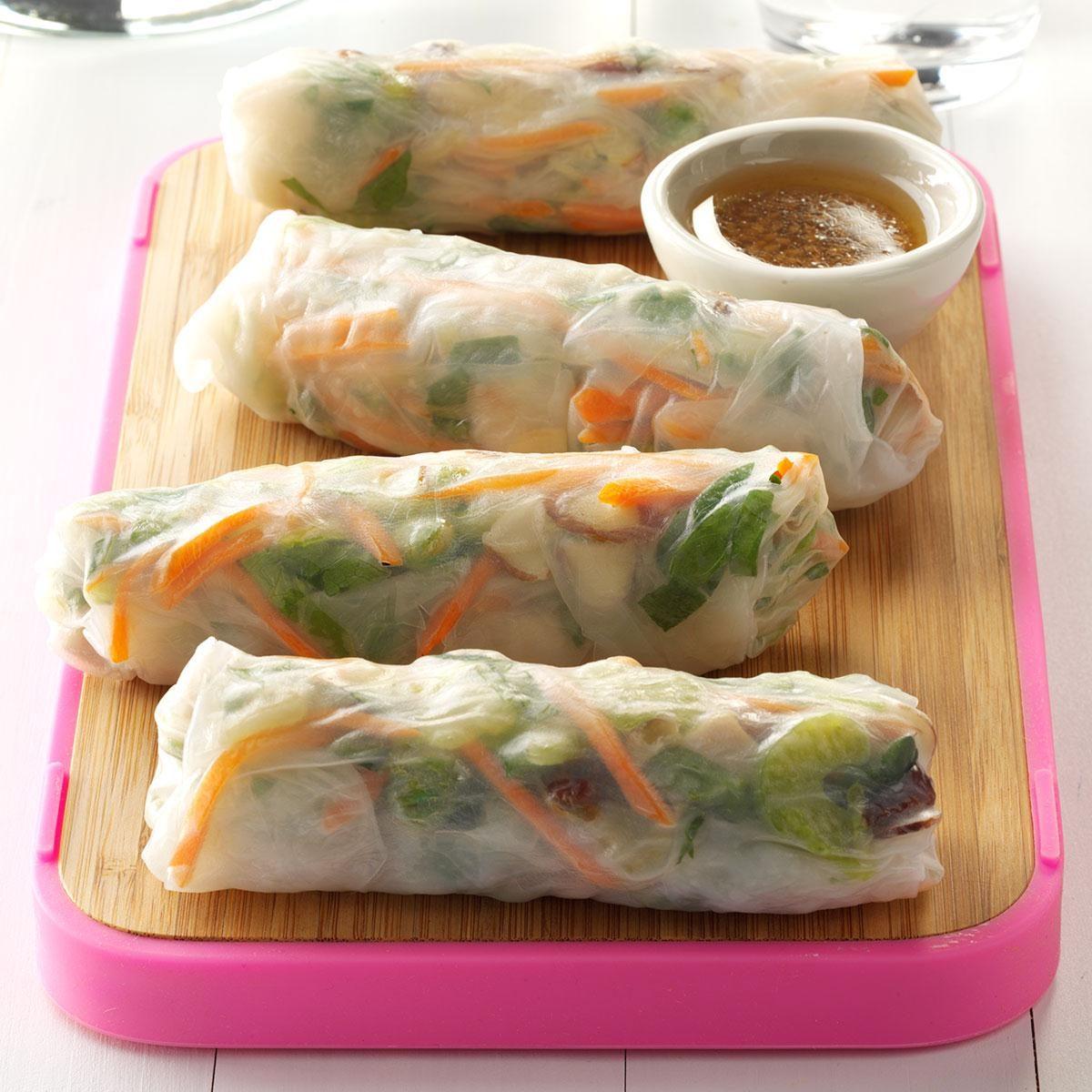 Pork & Vegetable Spring Rolls Recipe | Taste of Home