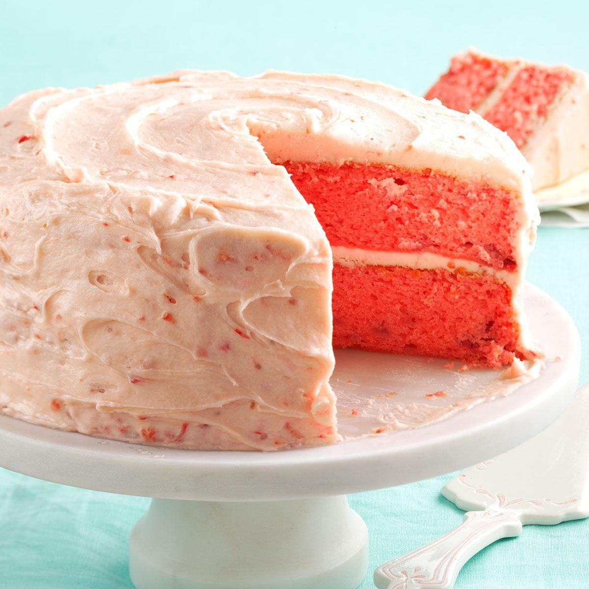 Homemade Strawberry Jello Cake