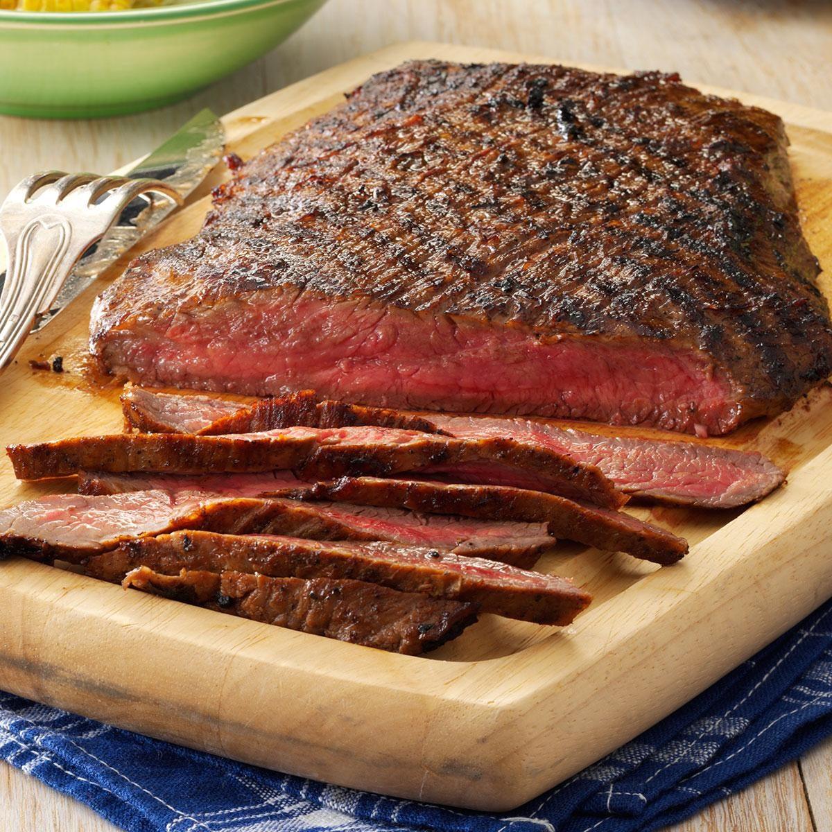 Easy Marinated Flank Steak Recipe Taste Of Home