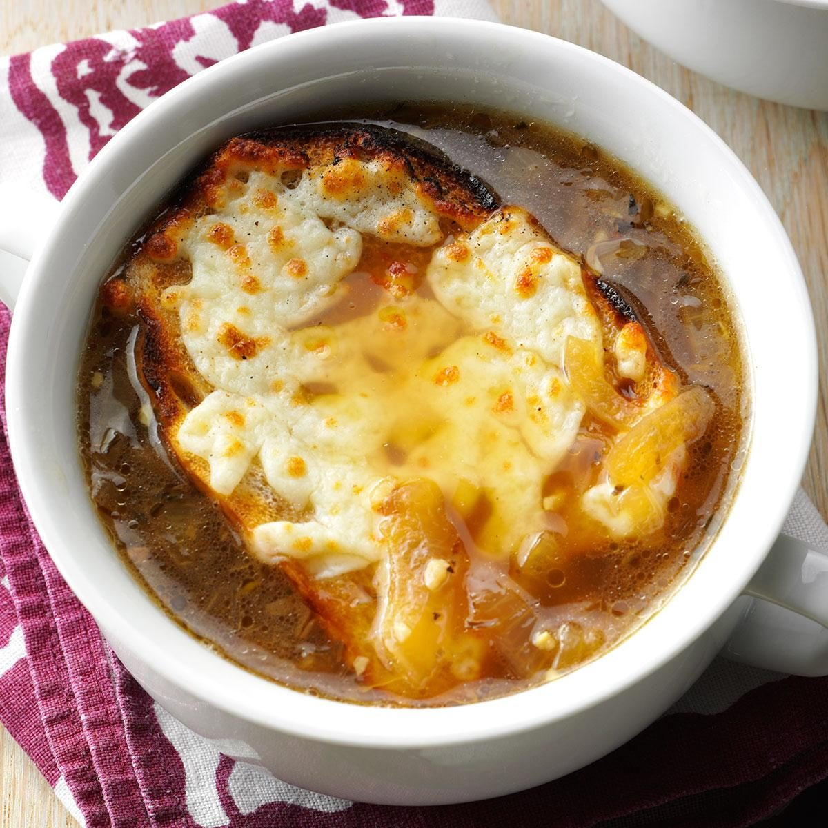 So easy yet delicious onion soup recipe taste of home for Easy tasty soup recipes