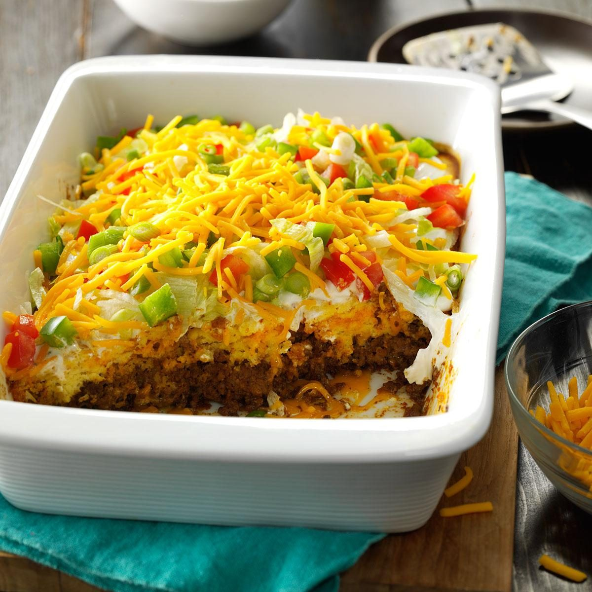 easy taco casserole Talk about taking tacos to a whole new level this is one of my husbands favorites meals so easy to throw together and very satisfying.