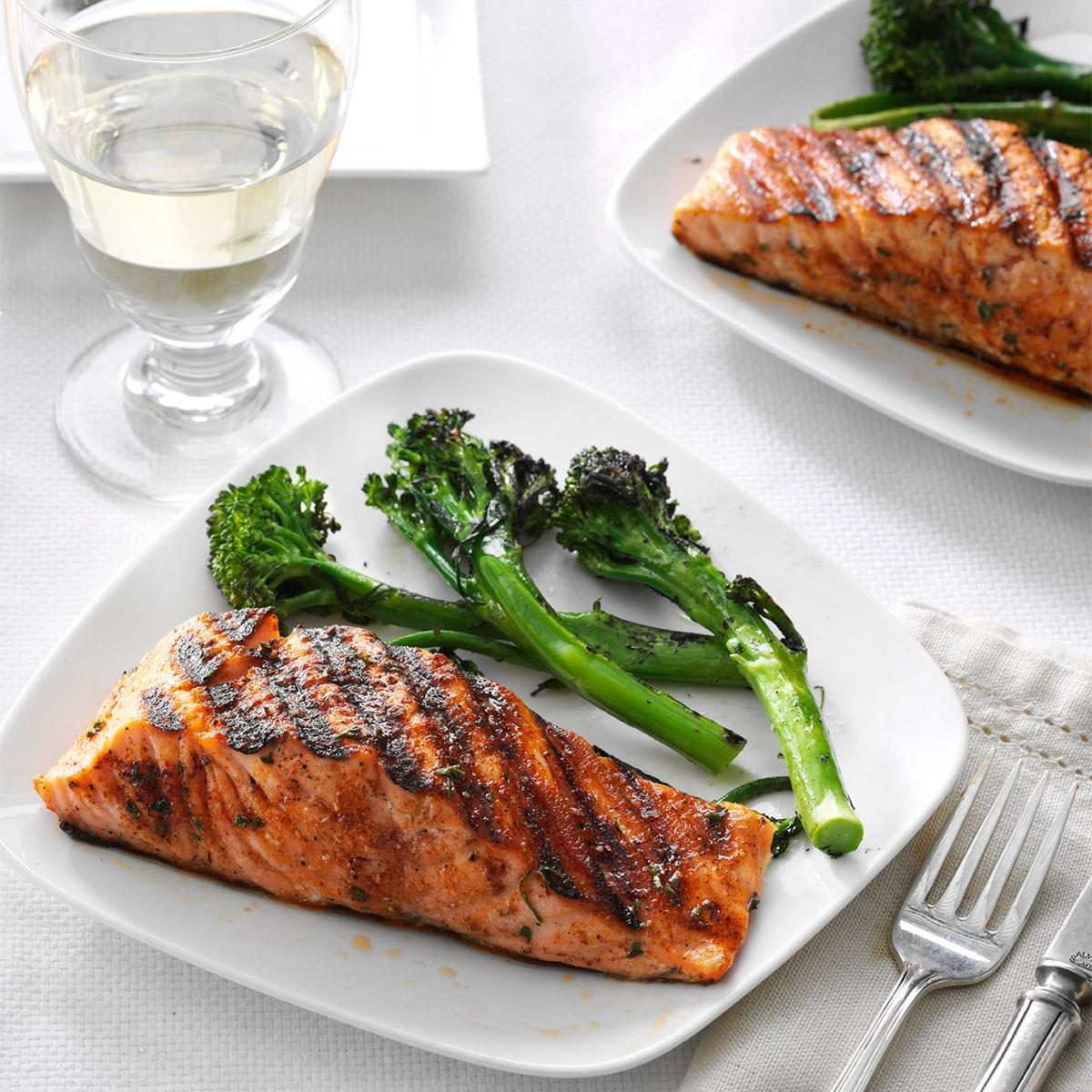 Spice rubbed salmon recipe taste of home for Tasty fish recipes