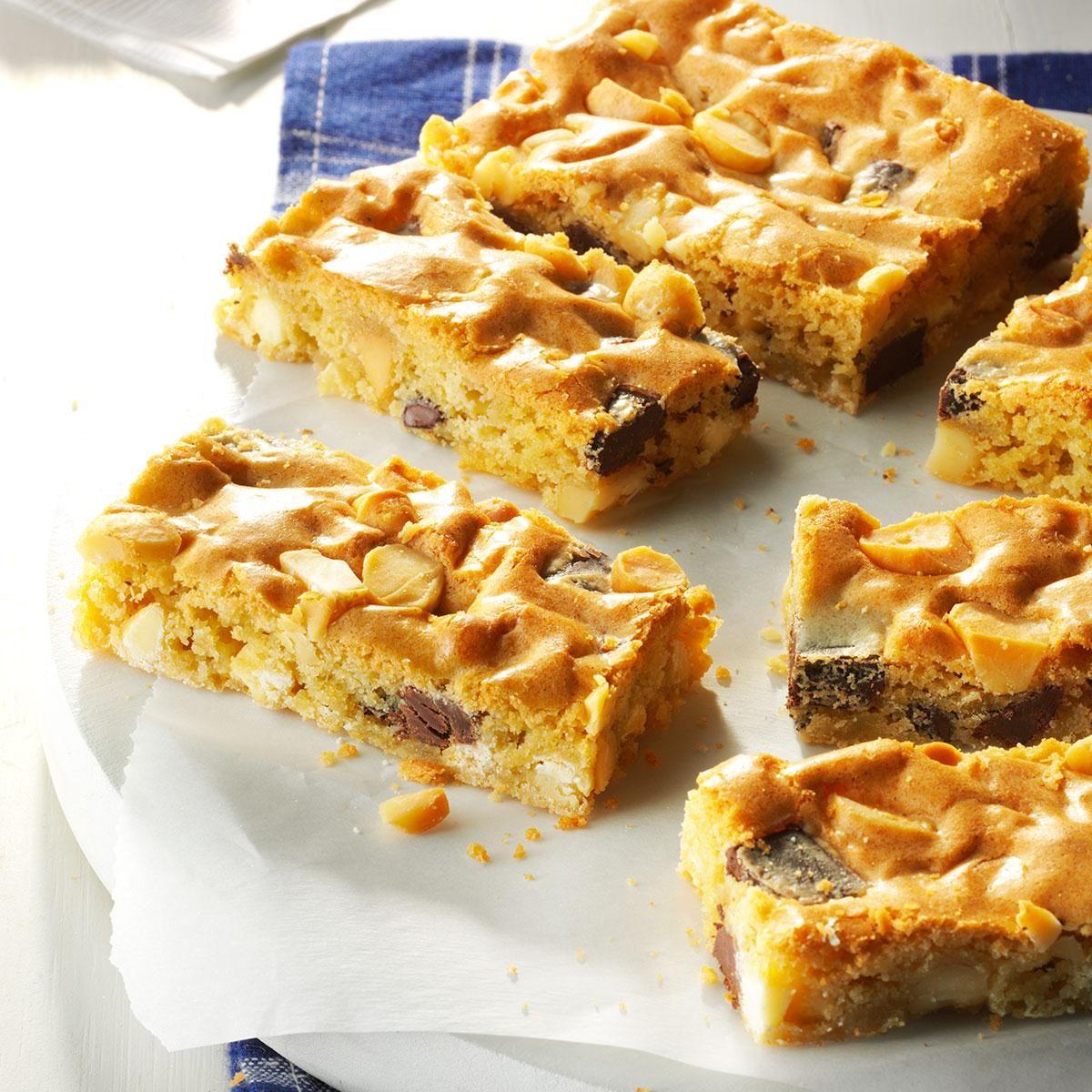 Chunky Blond Brownies Recipe Taste Of Home