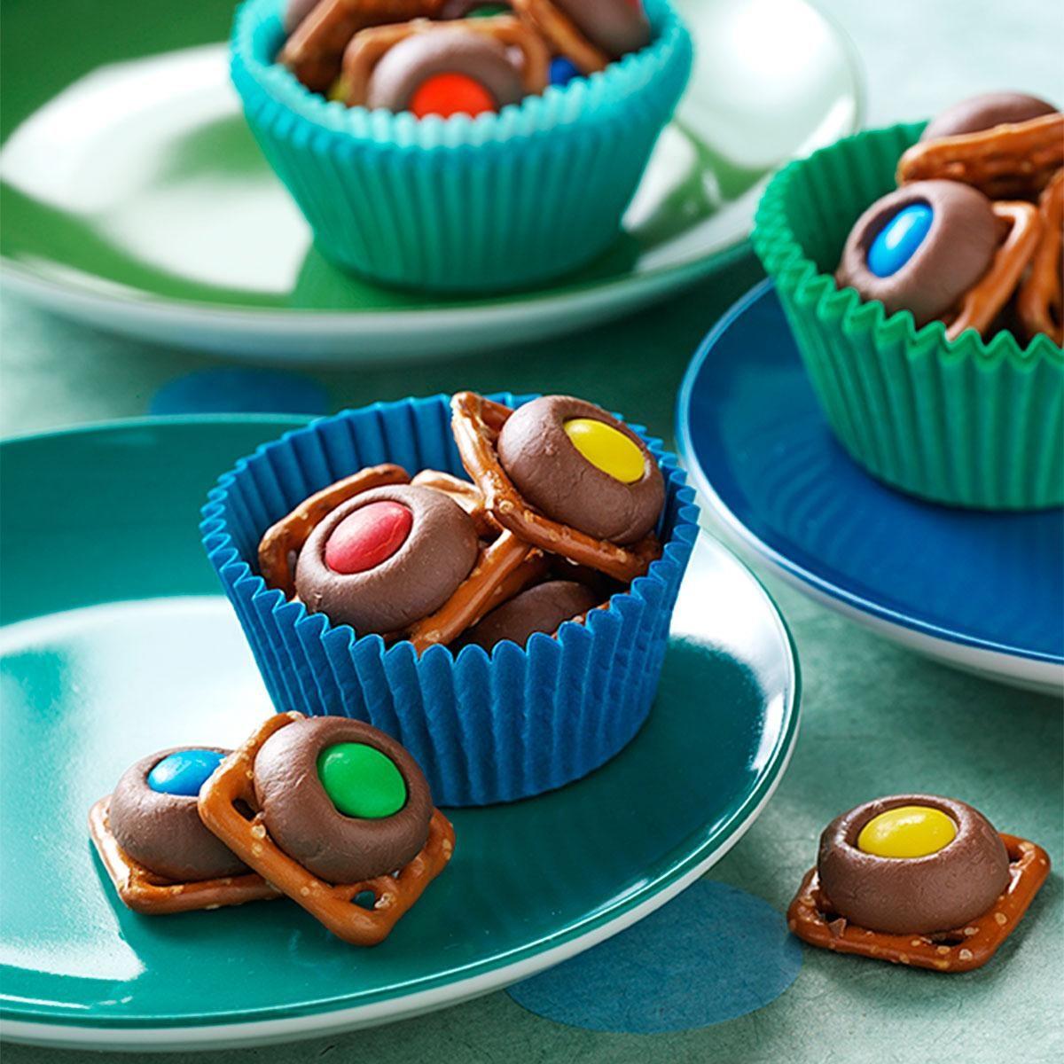 chocolate pretzel rings recipe taste of home