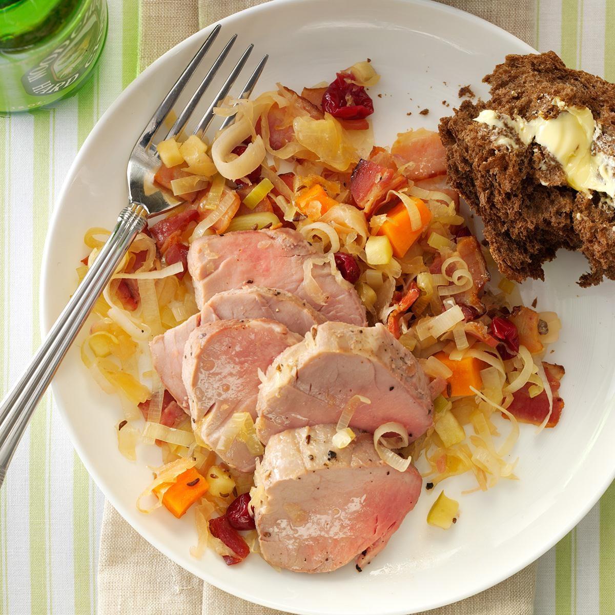 Recipe pork loin sauerkraut apples