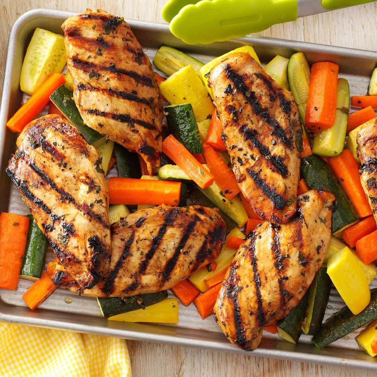Apple-Marinated Chicken & Vegetables Recipe