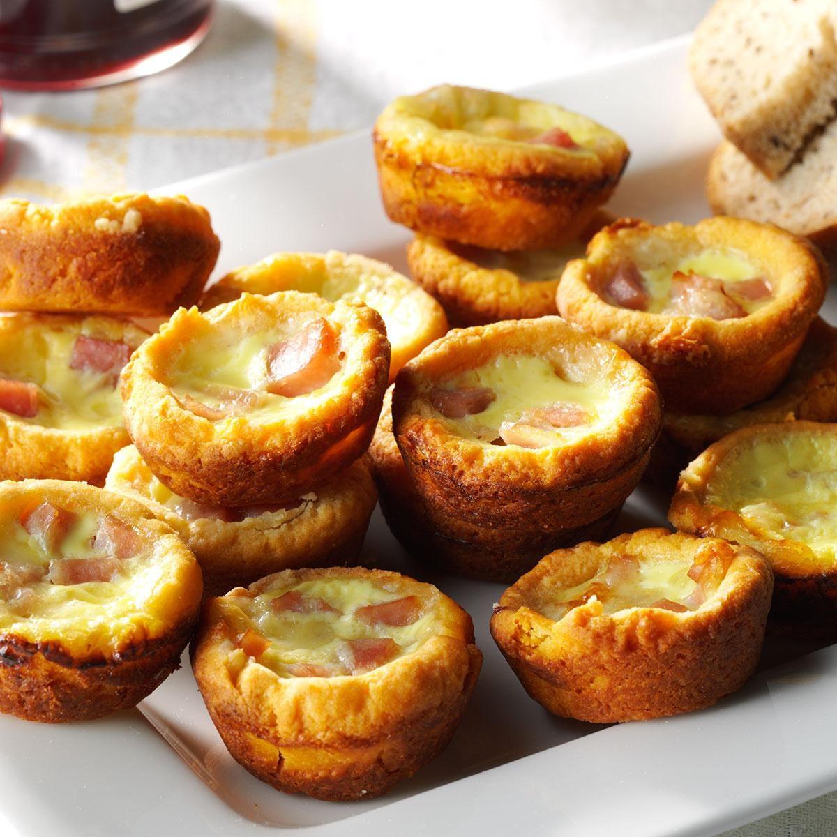 Ham N Cheese Quiches Recipe