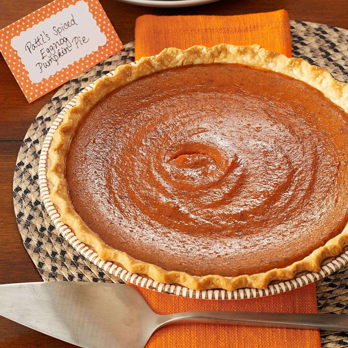 Spiced Eggnog Pumpkin Pie Recipe