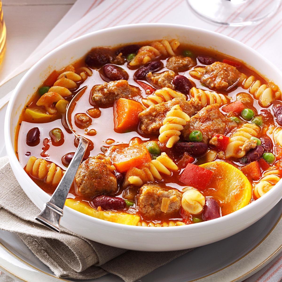 Sausage Pasta Stew Recipe | Taste of Home