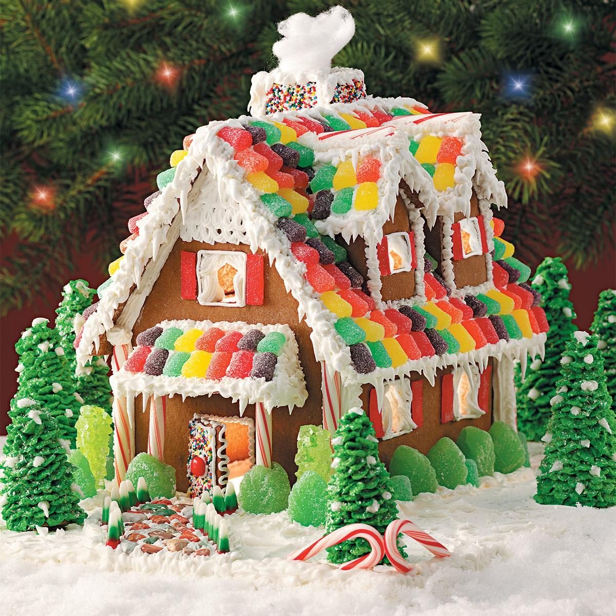 Ideas for a gingerbread house - Gingerbread Christmas Cottage