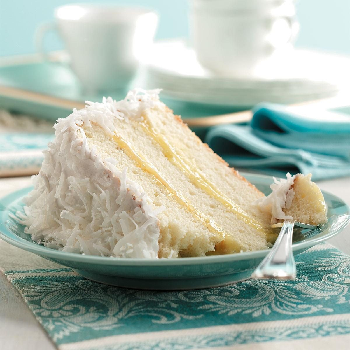 Taste Of Home Lemon Filled Coconut Cake