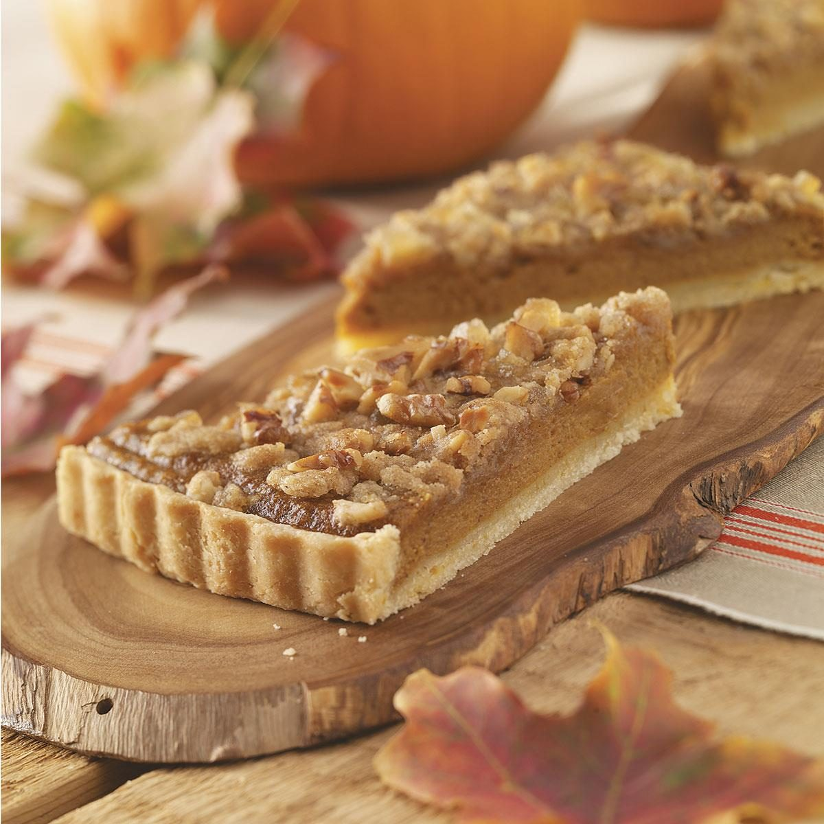 Bourbon Pumpkin Tart with Walnut Streusel Recipe | Taste of Home