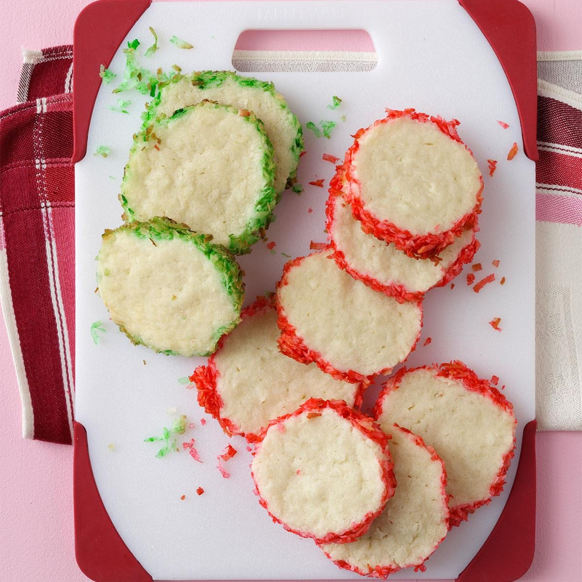 Coconut Slice & Bake Cookies Recipe | Taste of Home