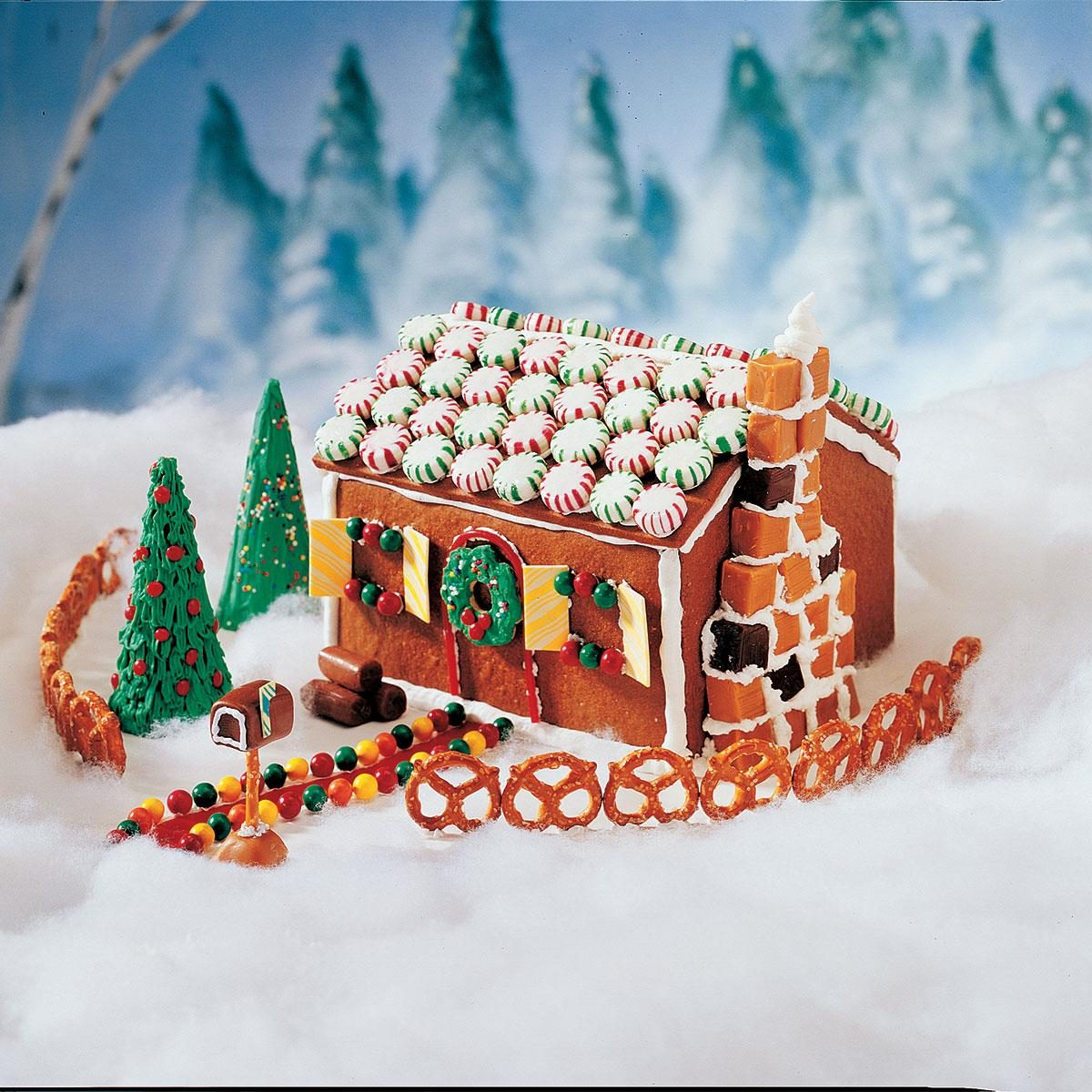 Ellen 39 s edible gingerbread house recipe taste of home for Gingerbread house themes