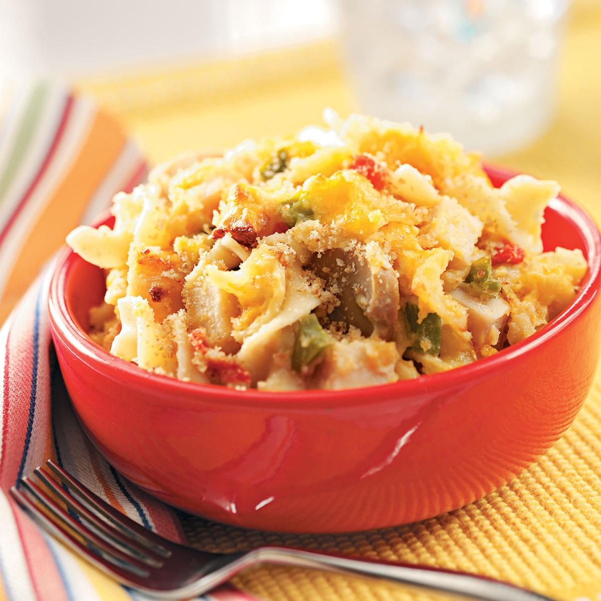 Three cheese chicken tetrazzini recipe