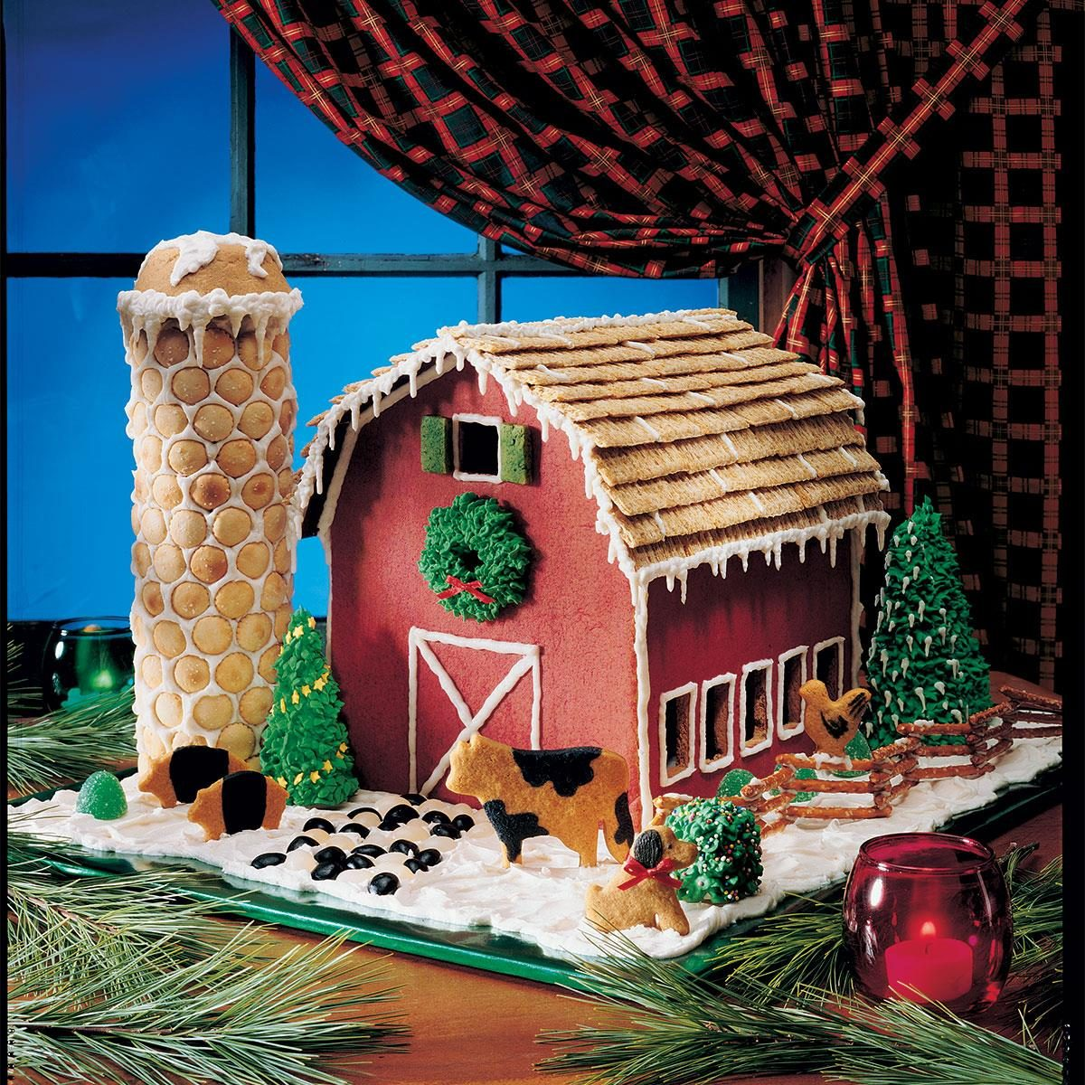 Gingerbread barn recipe taste of home for How to make best gingerbread house