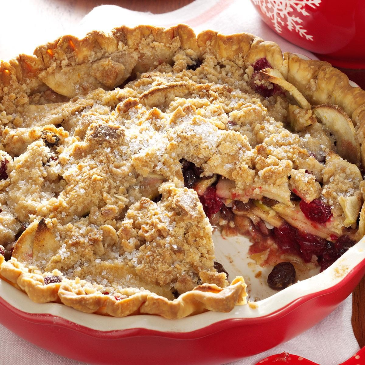Dutch Cranberry-Apple Pie Recipe | Taste of Home