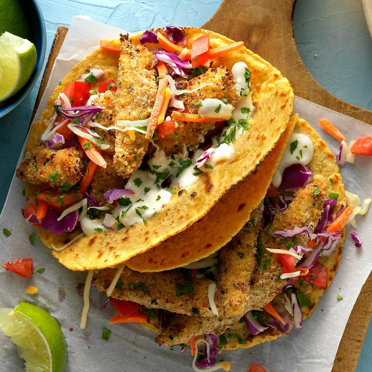 Fantastic fish tacos recipe taste of home for Fish burrito recipe