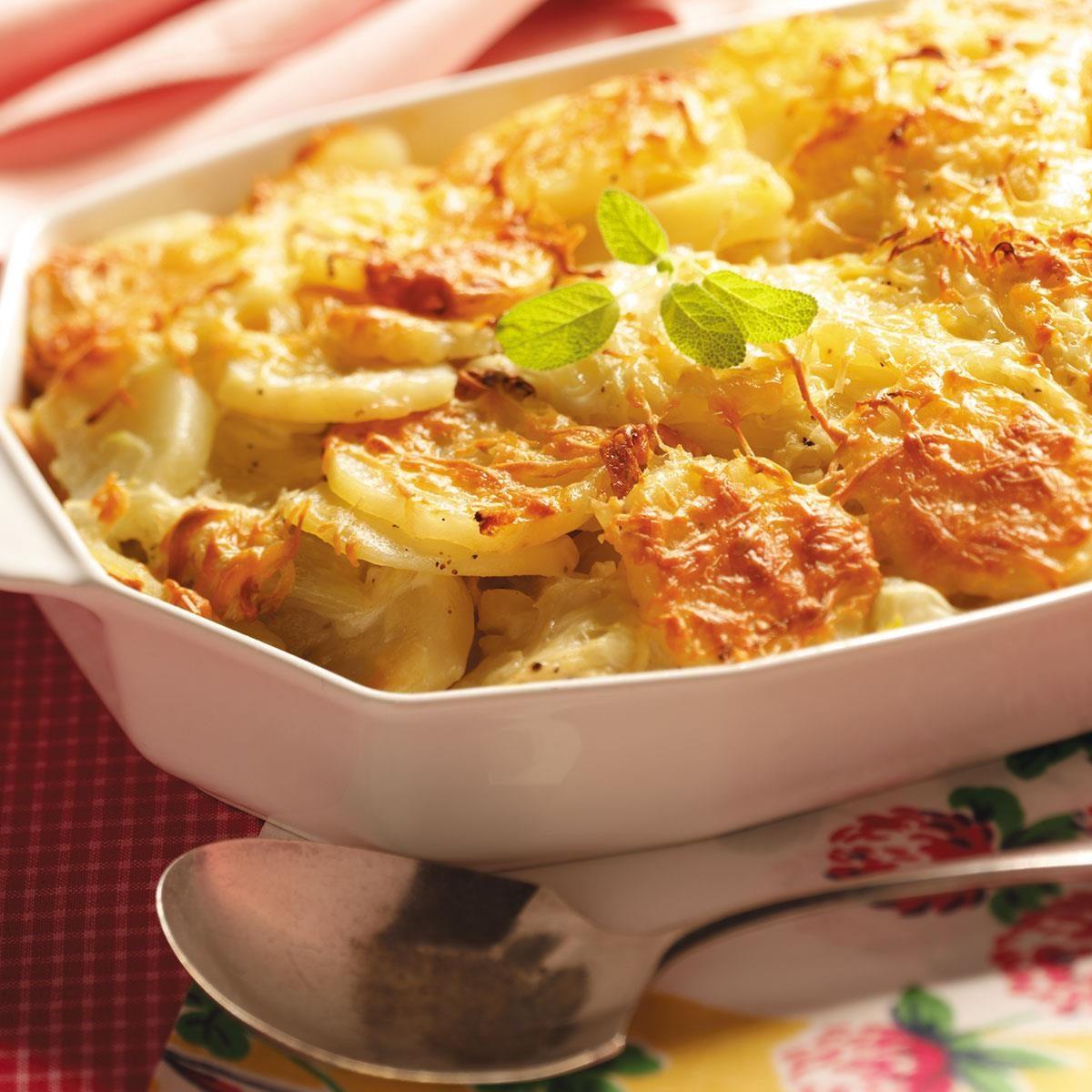 Fennel-Potato Au Gratin Recipe | Taste of Home