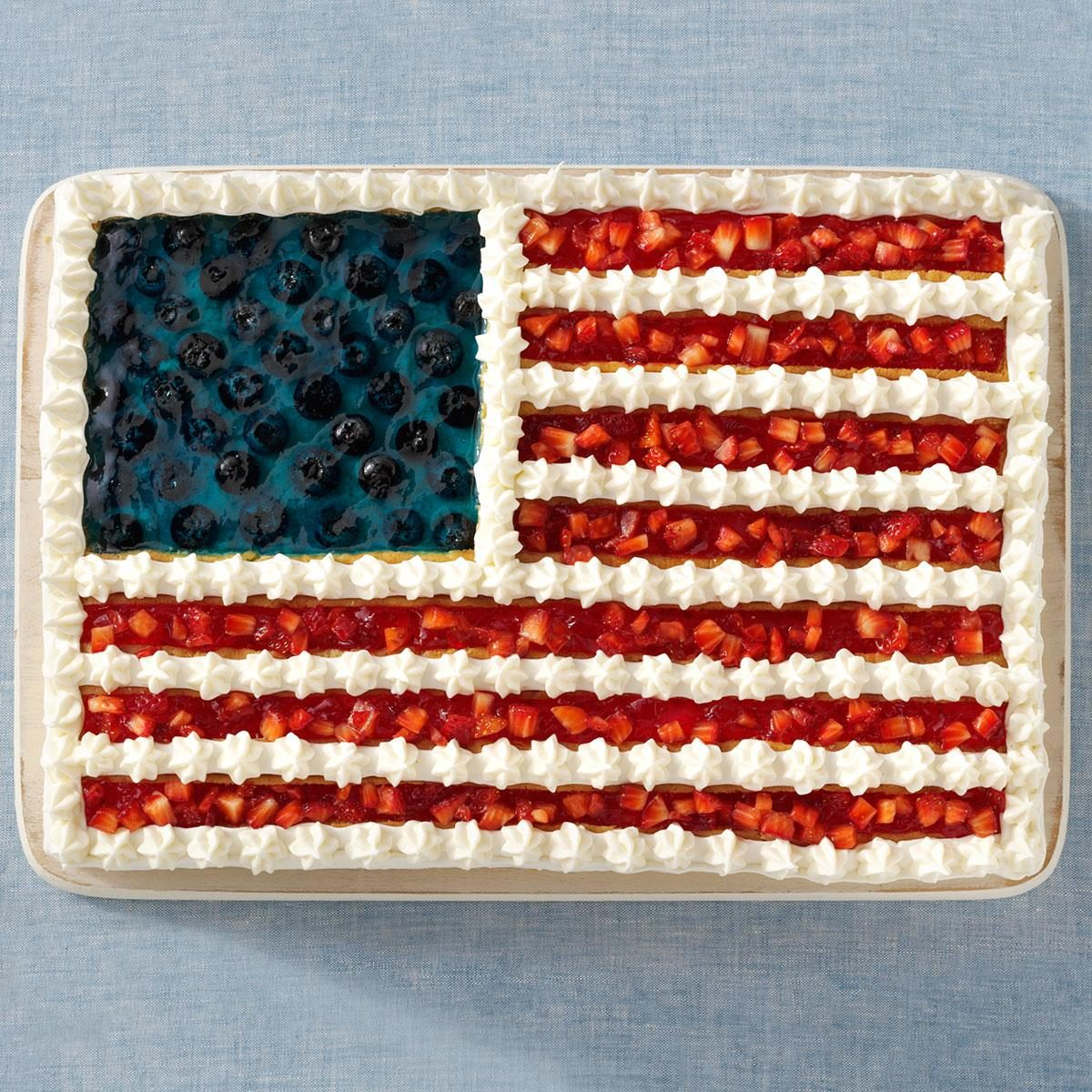 Flag Cake Recipe Angel Food