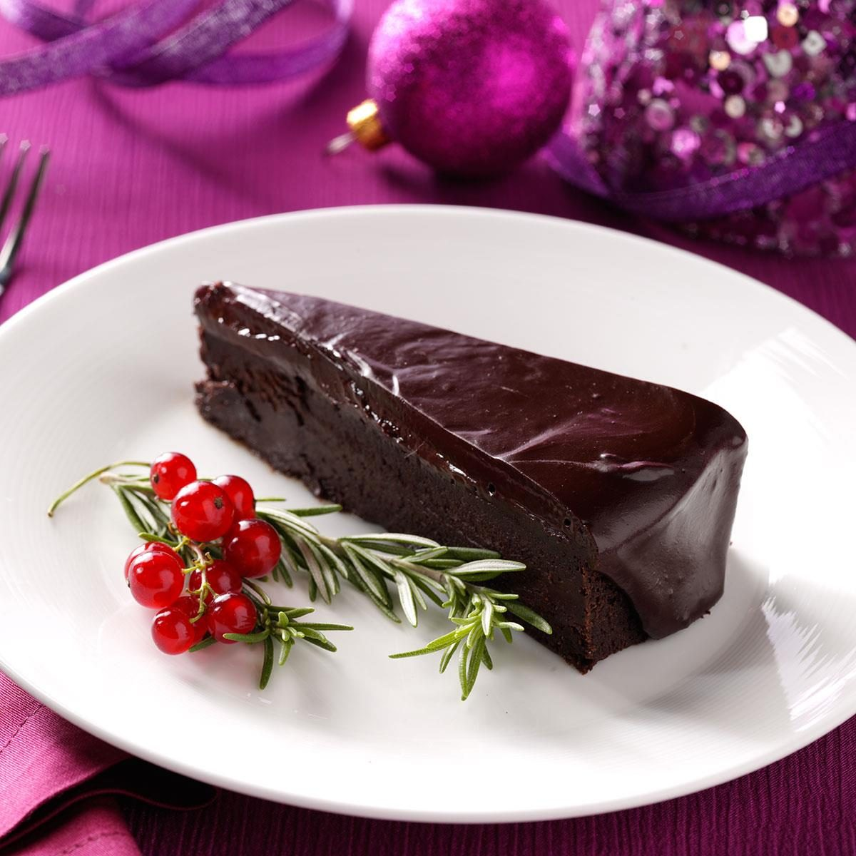 Flourless Chocolate Cake With Rosemary Ganache Recipe