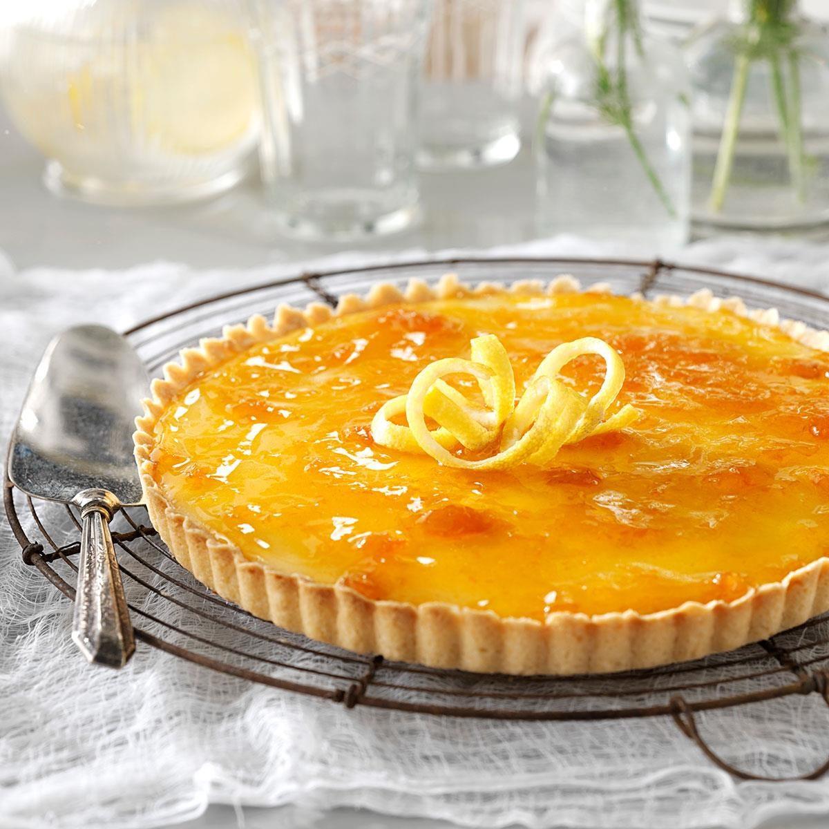 French Lemon Apricot Tart Recipe Taste Of Home