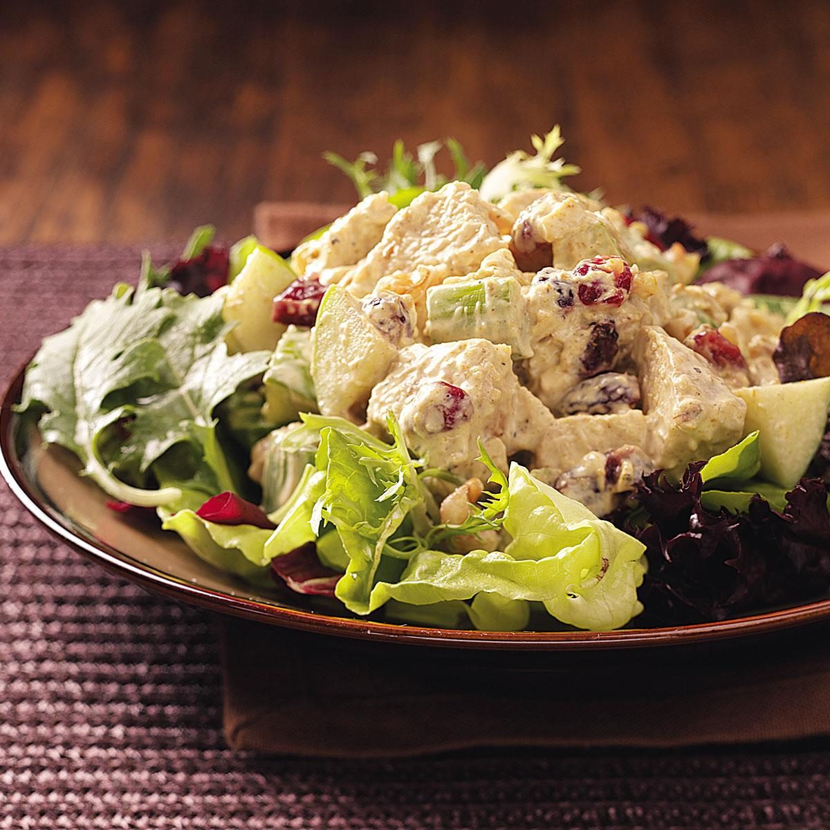 Fruited Curry Turkey Salad for Two Recipe | Taste of Home