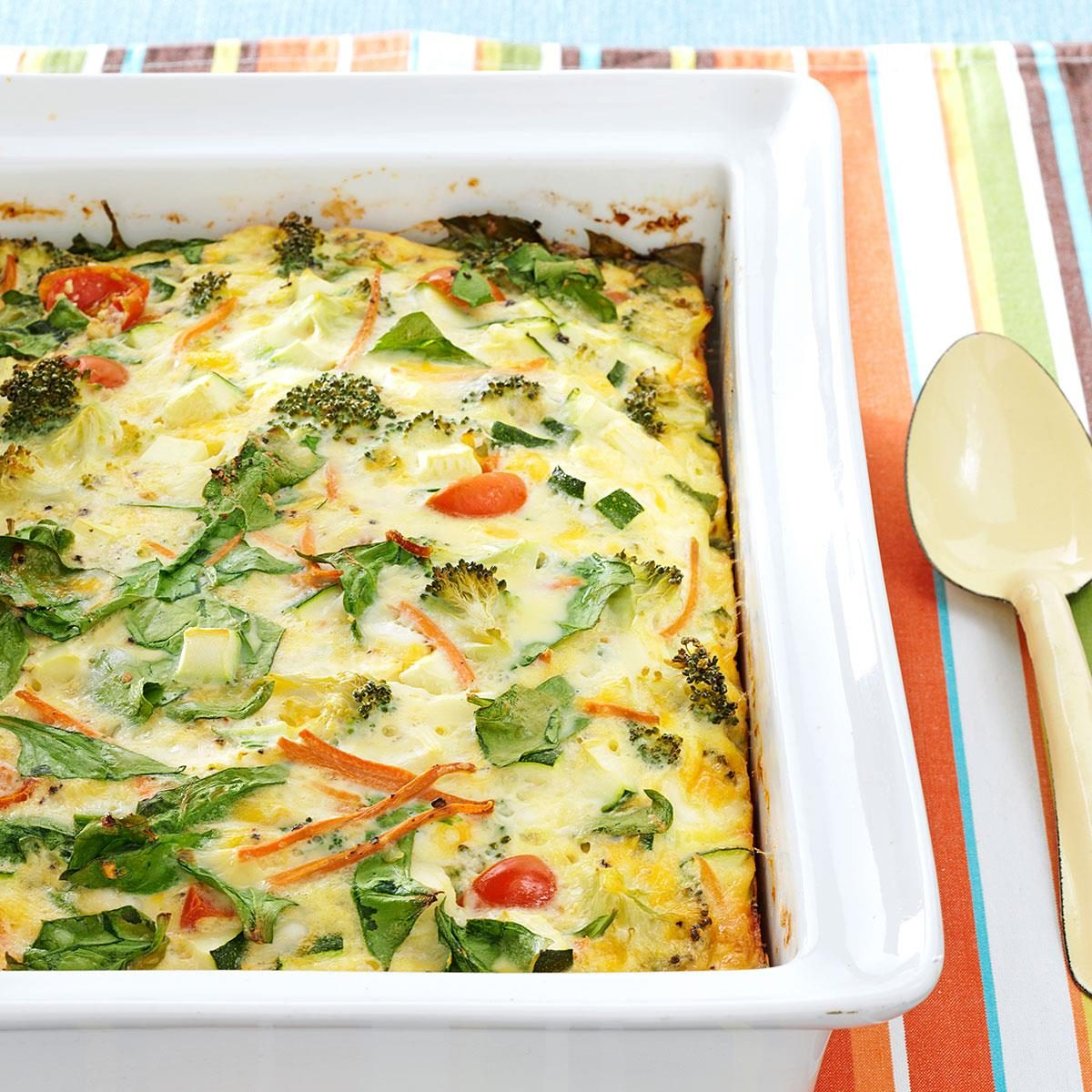 Egg Casserole Without Bread Vegetarian
