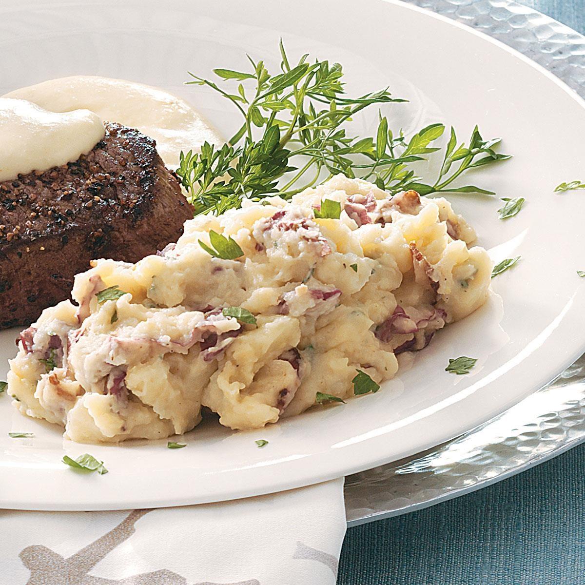 healthy garlic mashed red potatoes