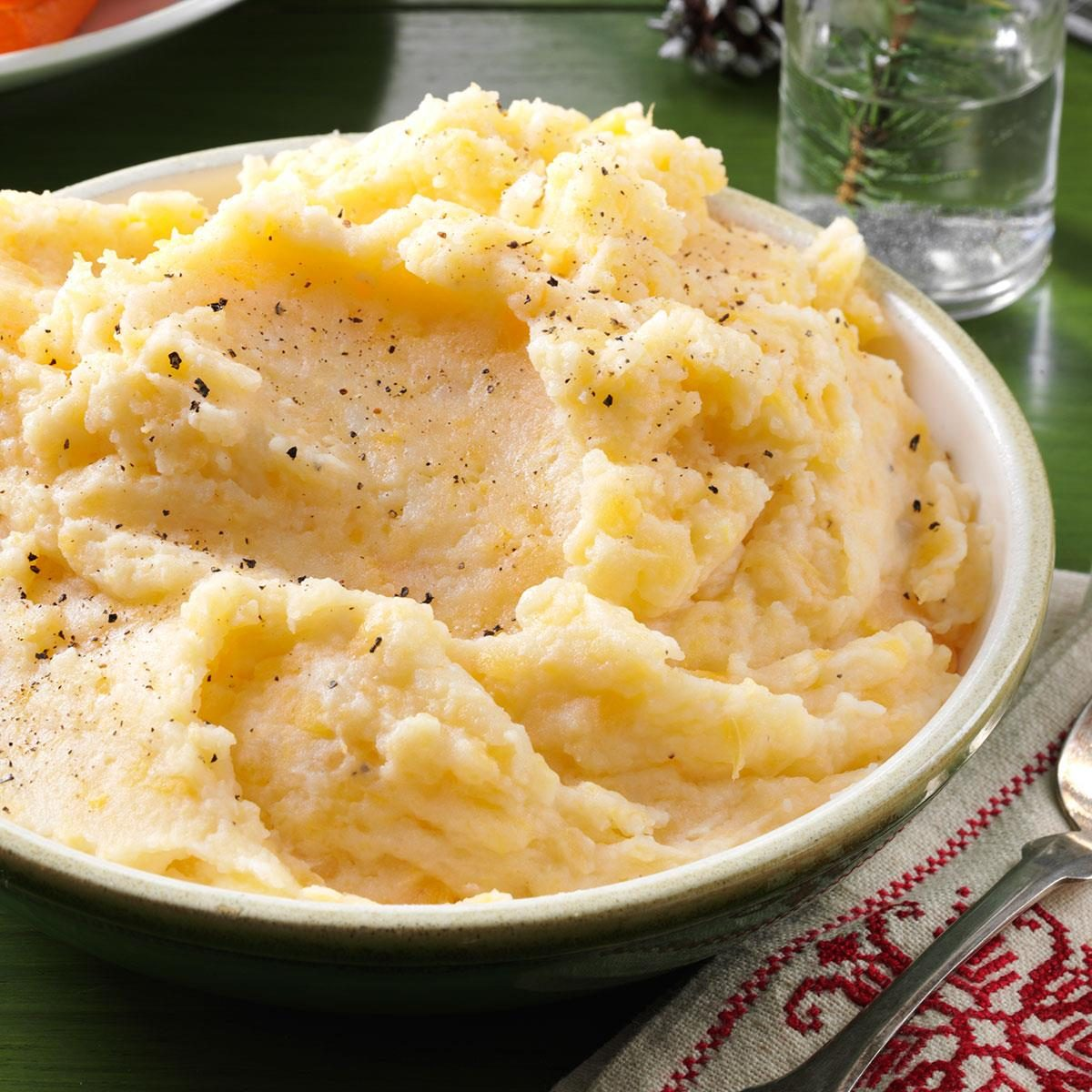 Garlic-Mashed Rutabagas & Potatoes Recipe | Taste of Home