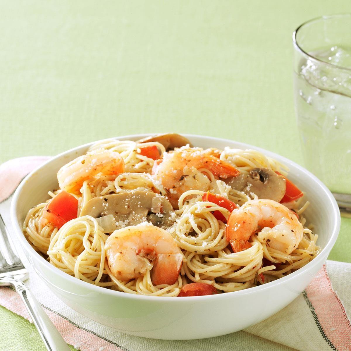 Garlic Shrimp & Mushroom Pasta Recipe | Taste of Home