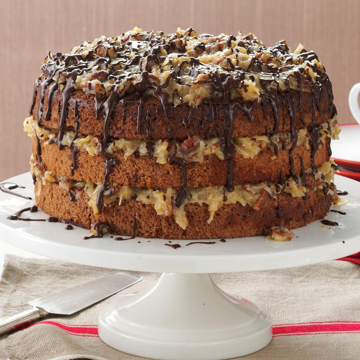 Bavarian German Chocolate Cake