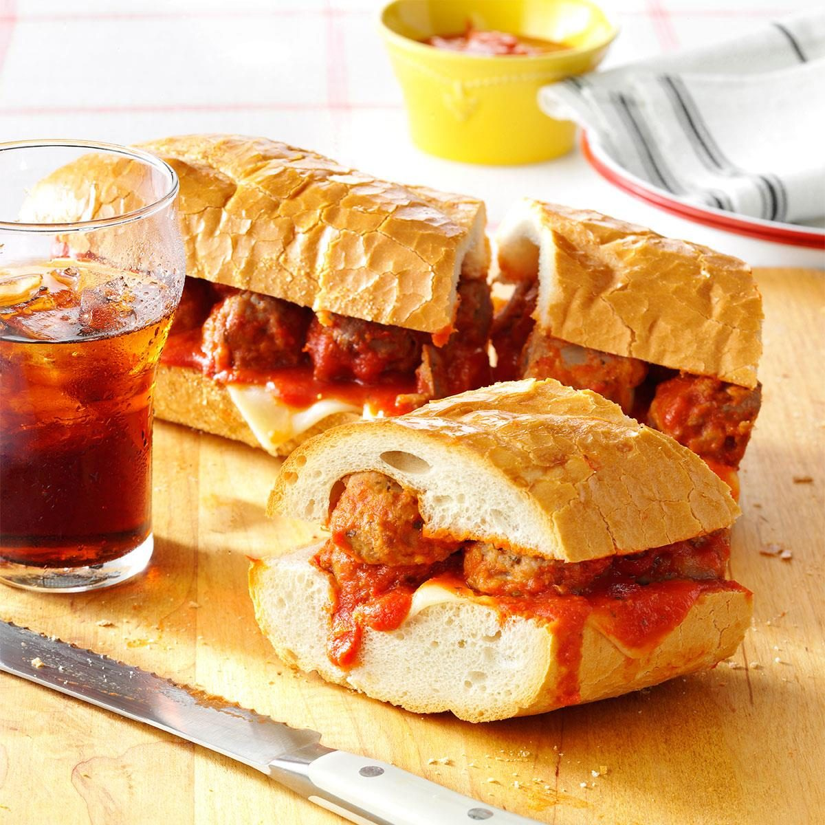 Giant Meatball Sub Recipe Taste Of Home
