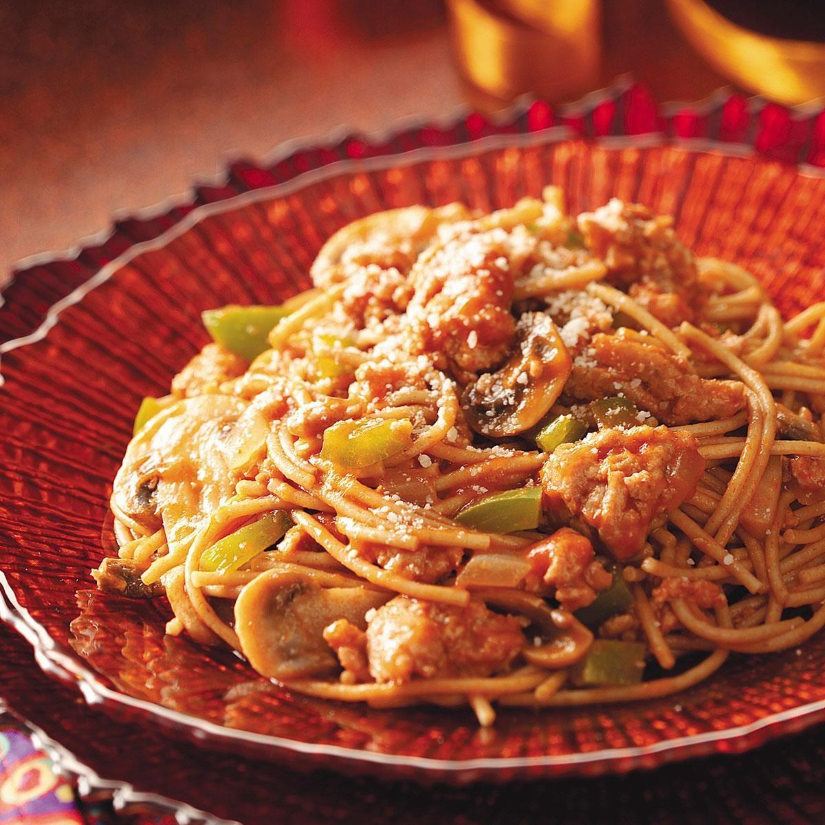 Jiffy Ground Pork Skillet Recipe: Gluten-Free Quick Turkey Spaghetti Recipe