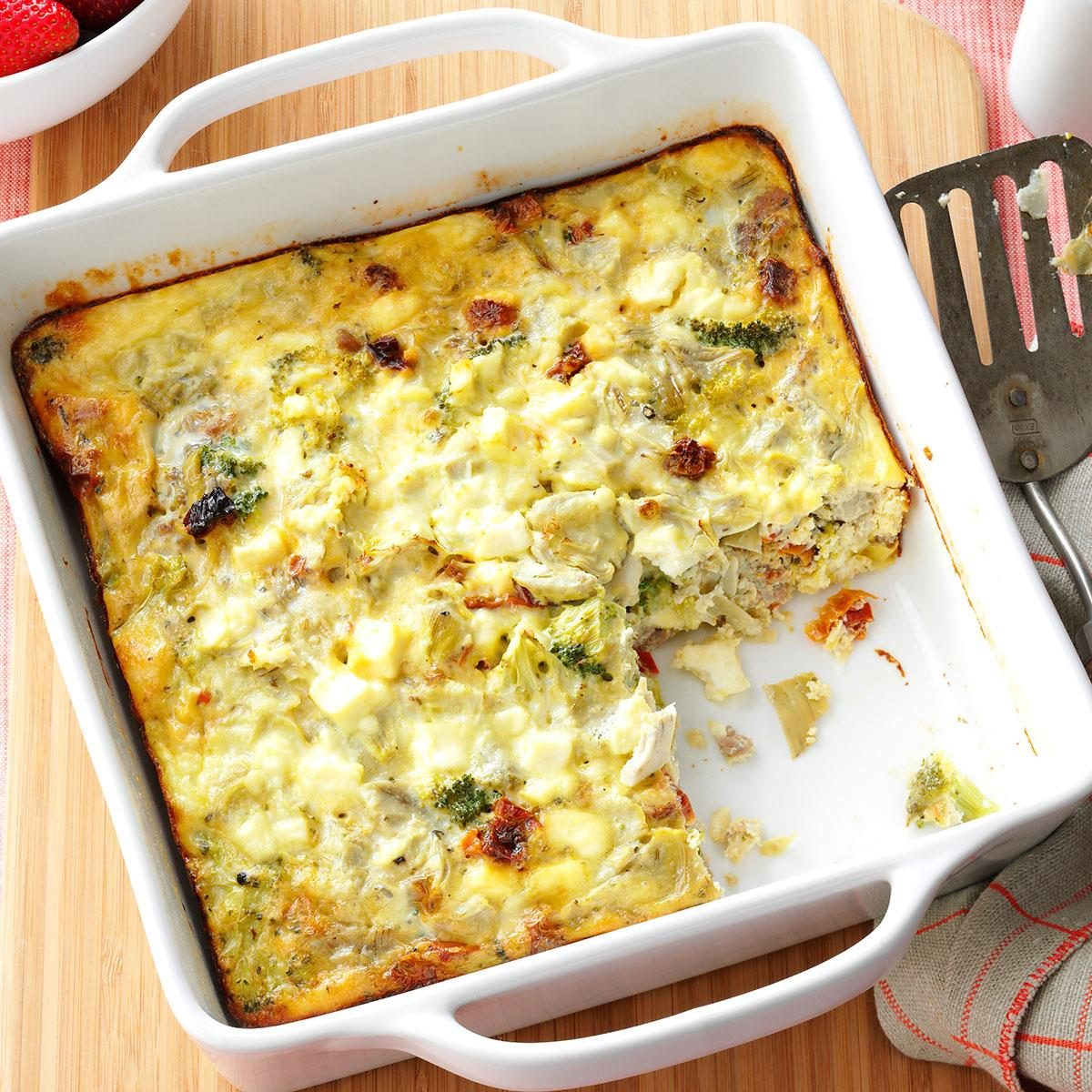 Breakfast Casserole Healthy: Greek Breakfast Casserole Recipe