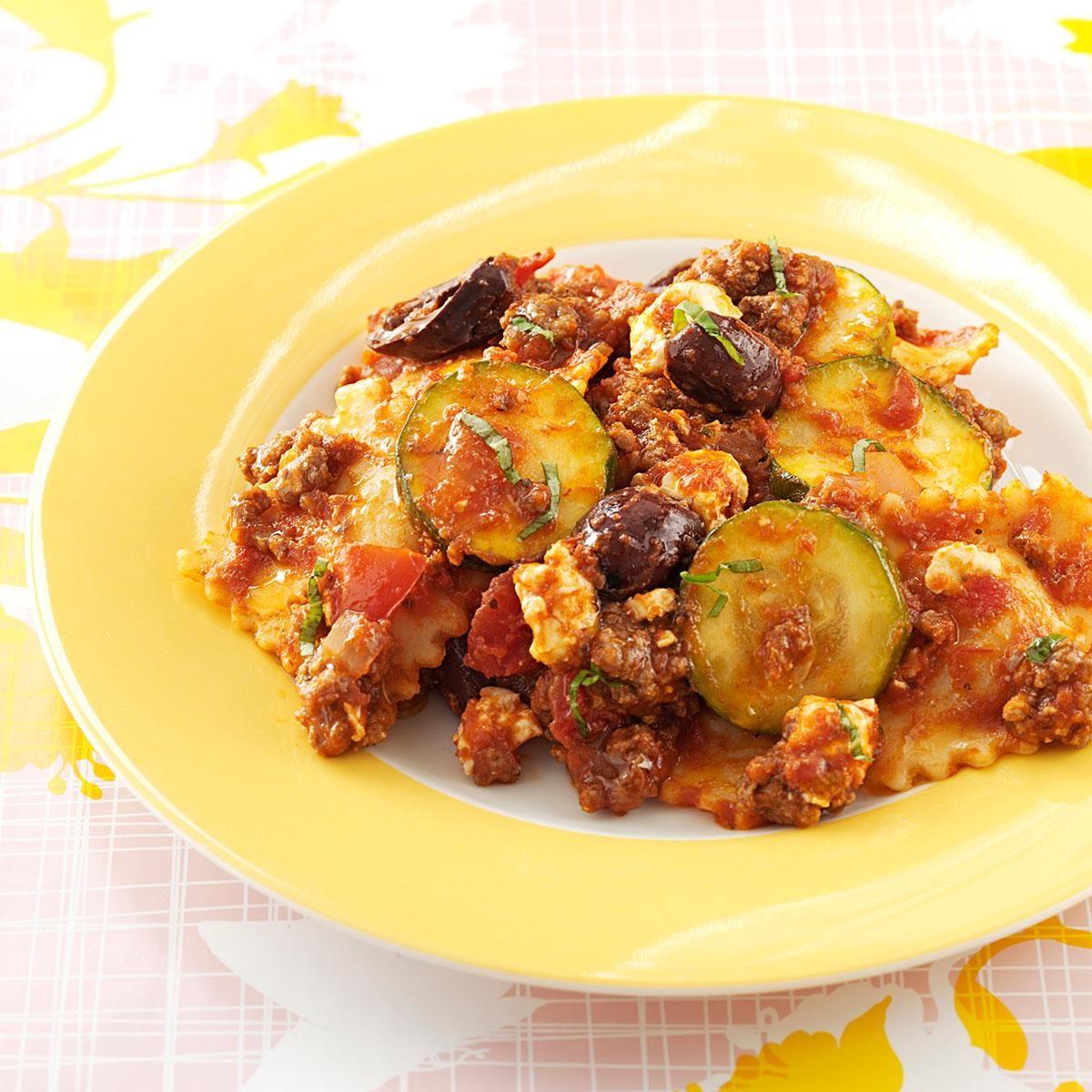 Greek Ravioli Skillet Recipe | Taste of Home