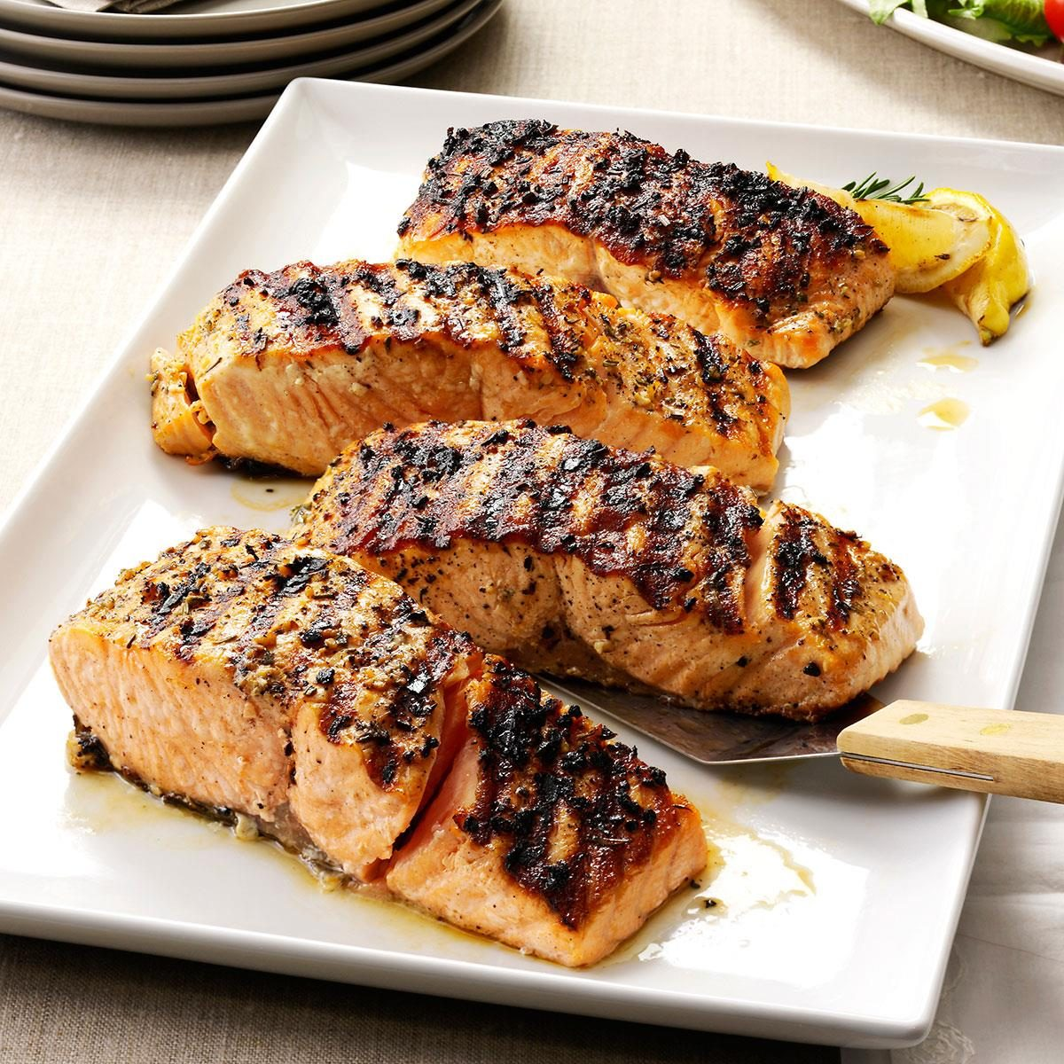 Grilled Lemon-Garlic Salmon Recipe