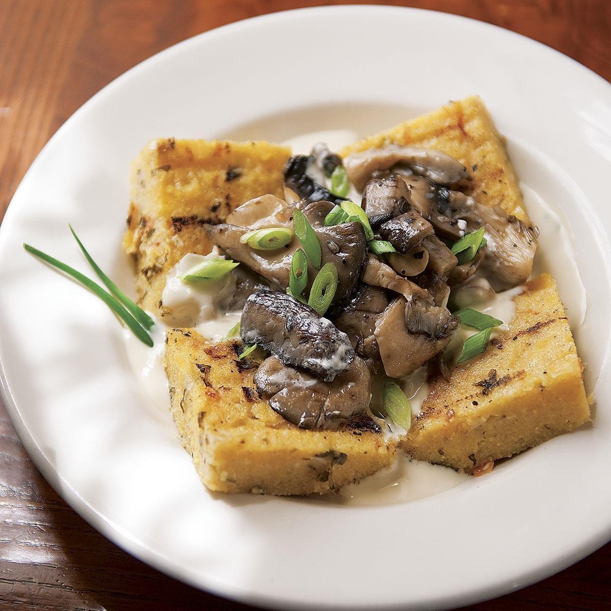 Grilled Polenta with Mushroom Sauce Recipe | Taste of Home