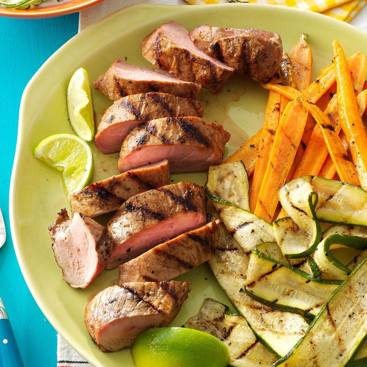 Grilled Pork Tenderloin Amp Veggies Recipe Taste Of Home