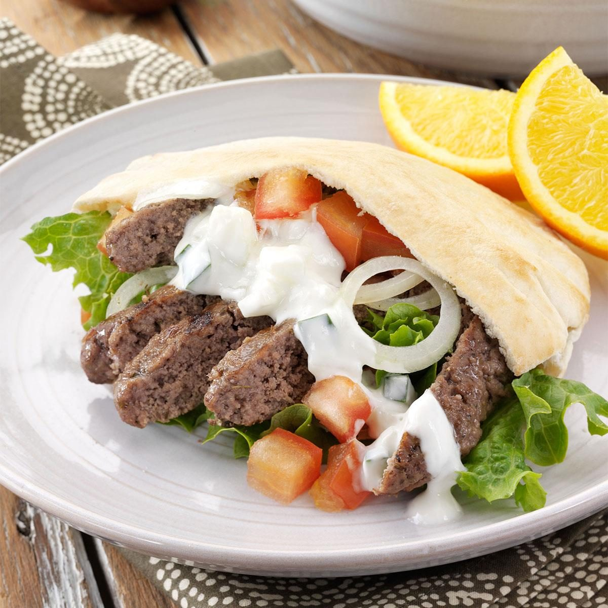 8 More Delicious And Easy Ground Beef Dinner Ideas: Ground Beef Gyros Recipe