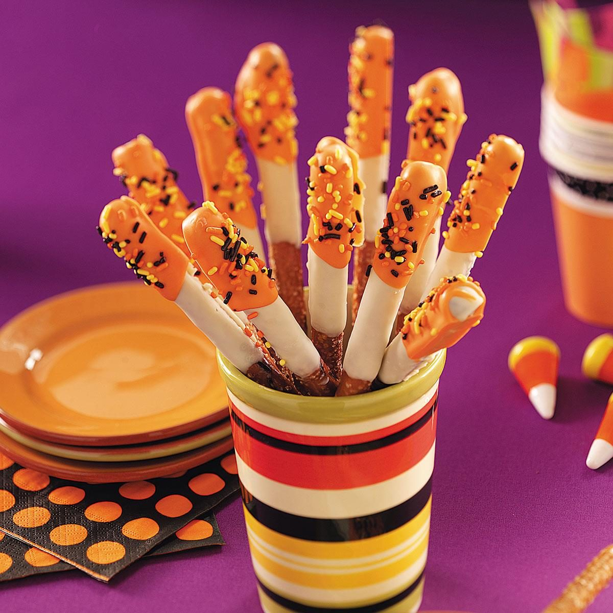 halloween pretzel treats recipe taste of home - Halloween Trets