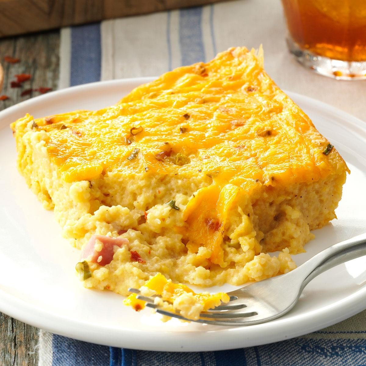 Ham & Cheese Grits Casserole Recipe | Taste of Home