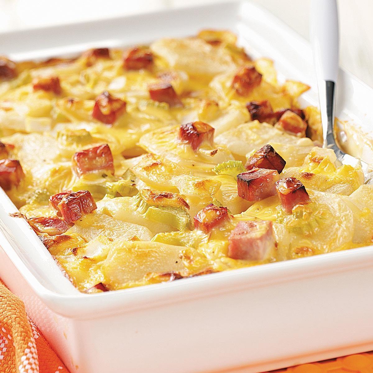 Ham And Creamy Potato Scallops Recipe