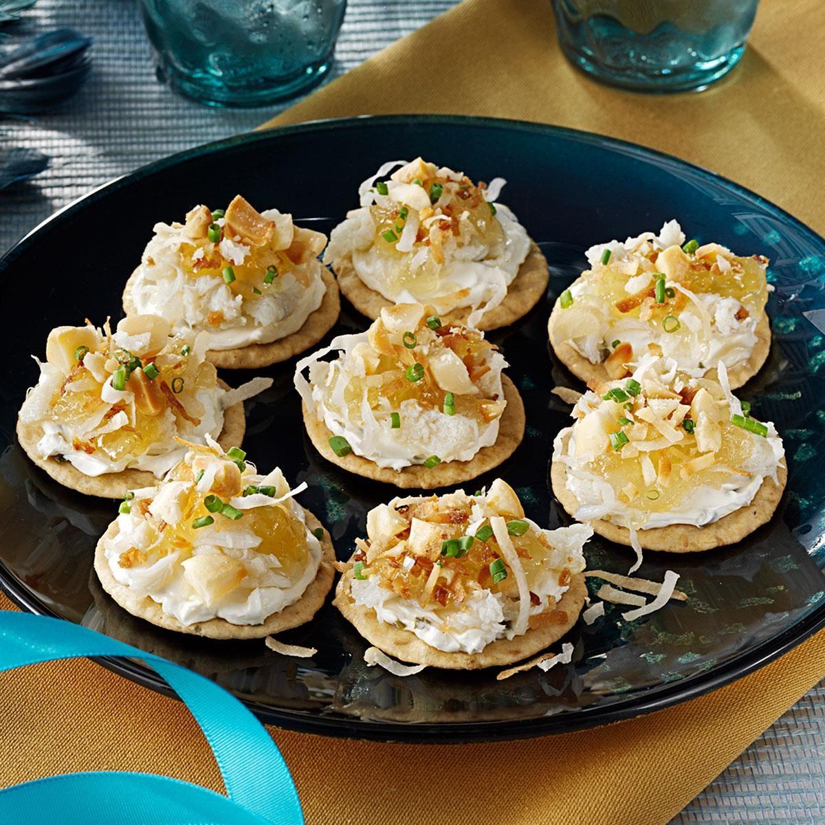 Hawaiian crab canapes recipe taste of home for Canape recipe