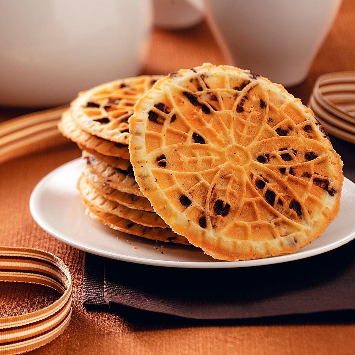 Chocolate Chip Pizzelle Recipe