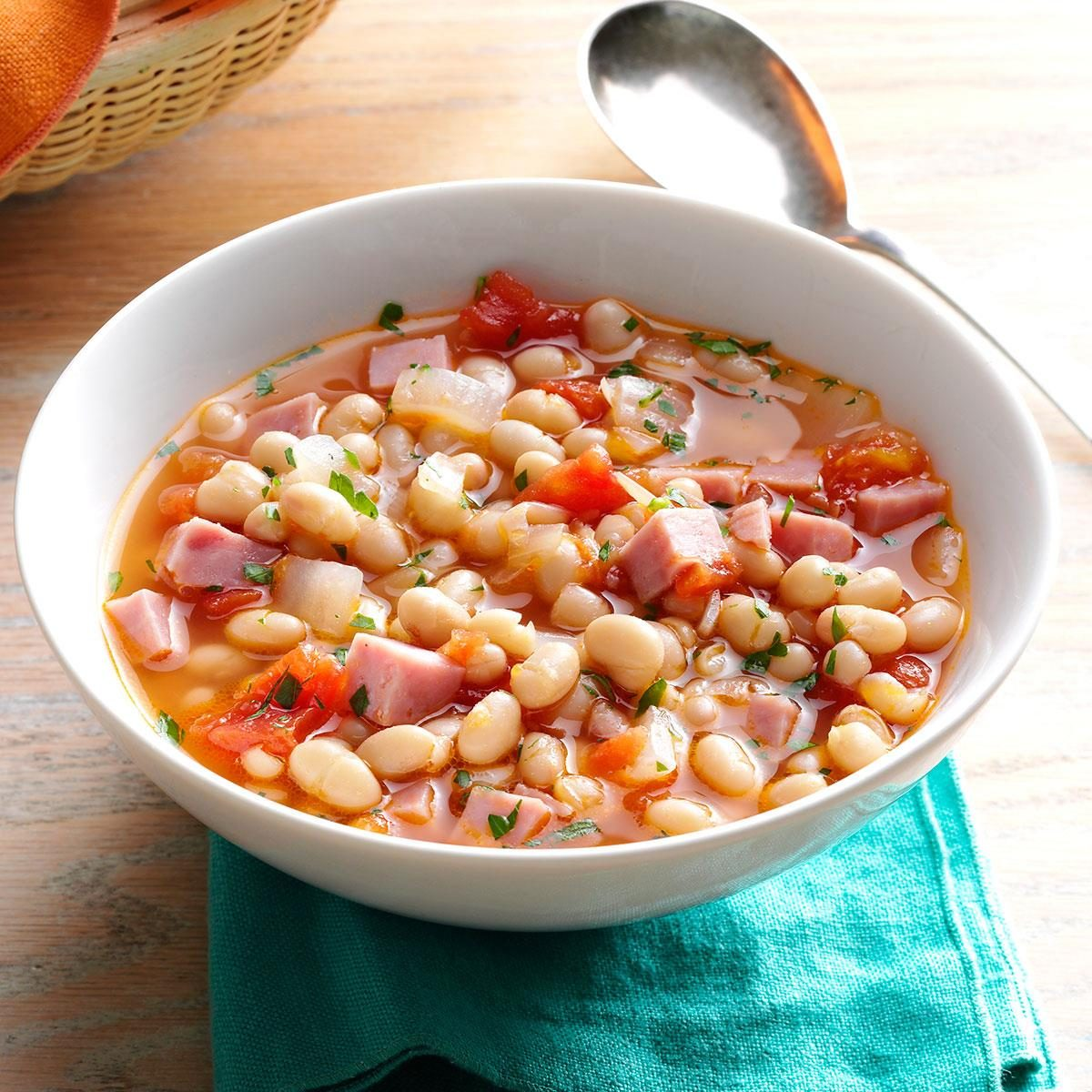 Hearty navy bean soup recipe taste of home How to make healthy soup for dinner