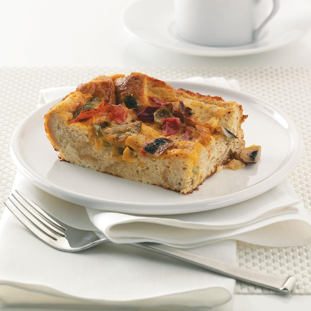 Strata Recipes hearty pepper strata recipe | taste of home